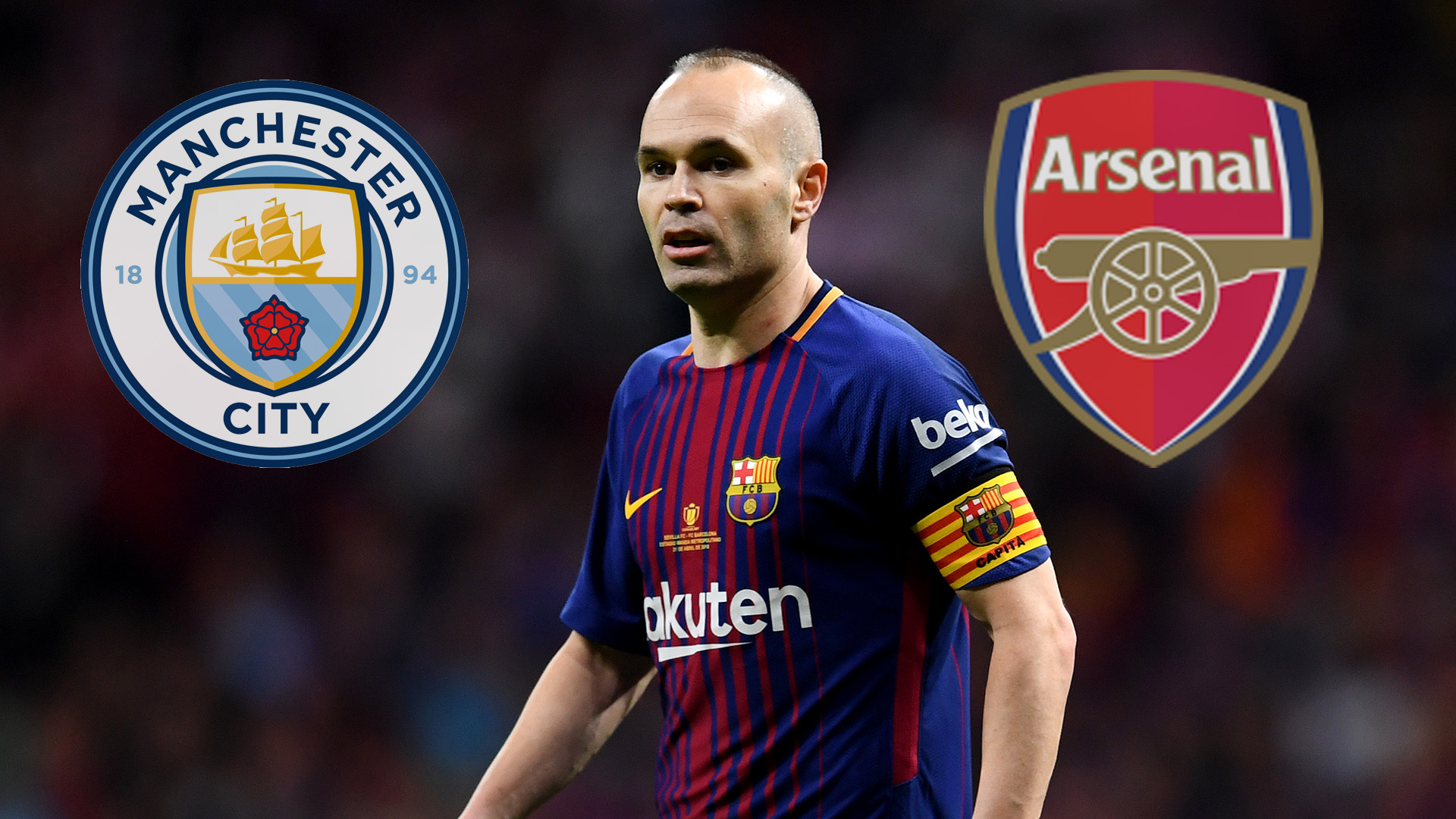 Transfer News Rumours Live Man City And Arsenal Battle For Iniesta Goal Com