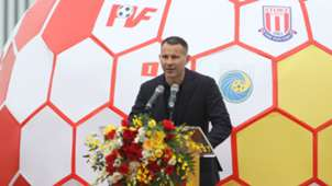 Ryan Giggs Paul Scholes at the PVF Academy