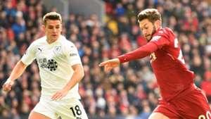 Ashley Westwood, Adam Lallana, Liverpool vs Burnley 2018-19