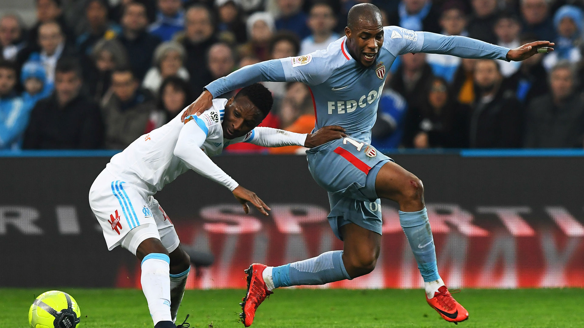Djibril Sidibe Bouna Sarr Marseille Monaco Ligue 1 28112018