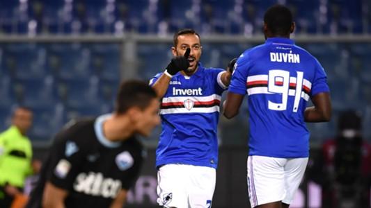 Zapata Quagliarella Sampdoria Lazio Serie A