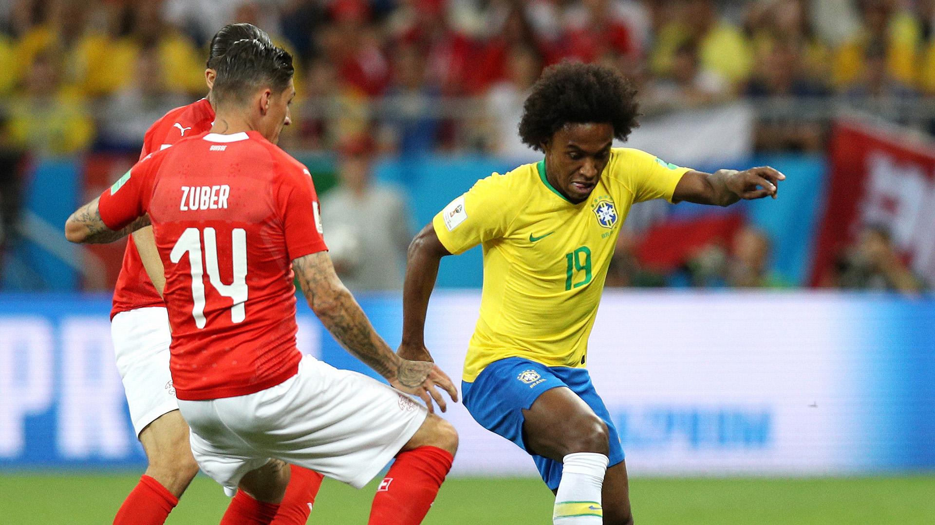 Willian Zuber Brazil Switzerland World Cup 17062018