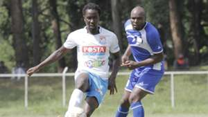 Posta Rangers player Jerry Santos v Wycliffe Ochomo of Homeboyz
