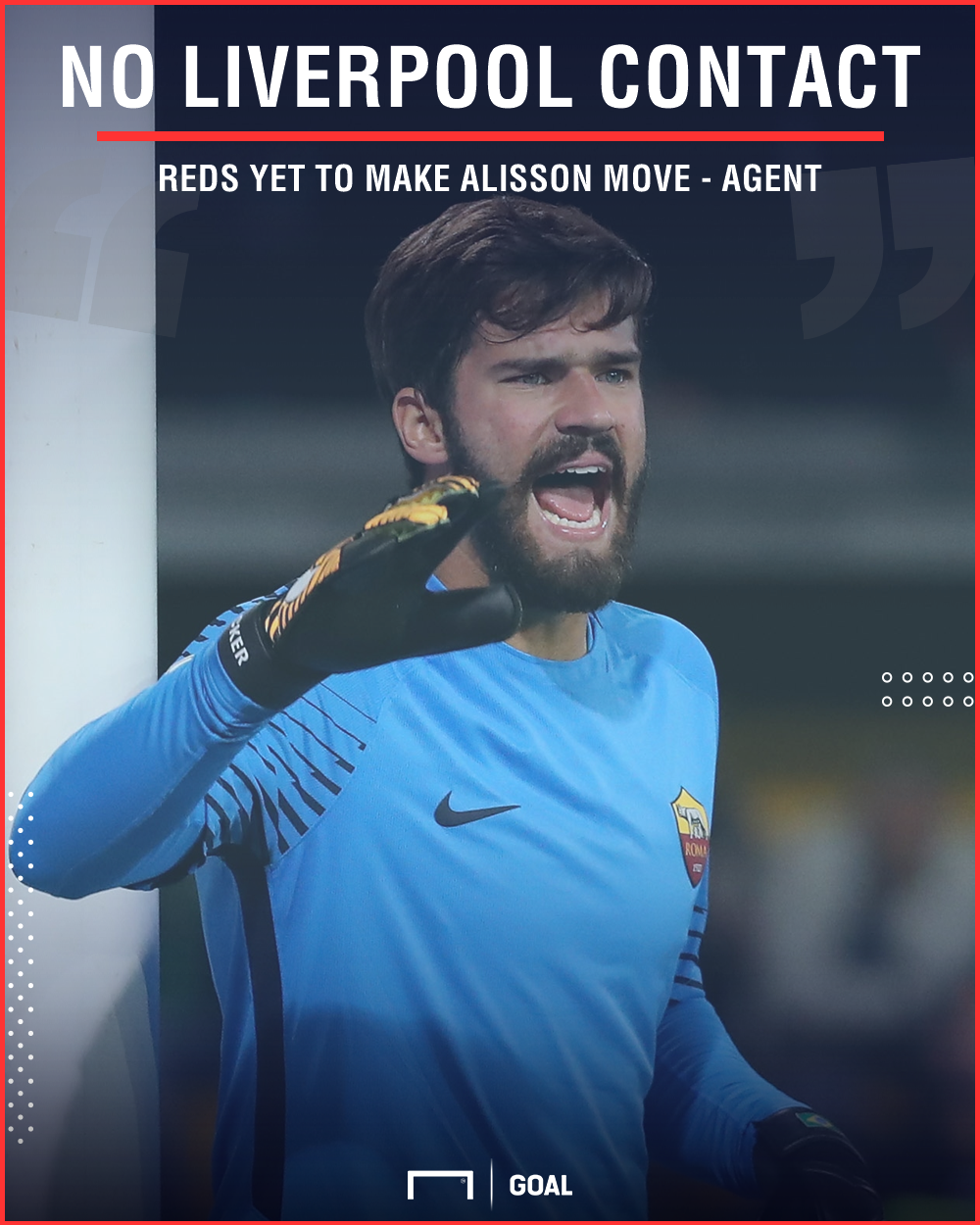 Alisson no Liverpool contact
