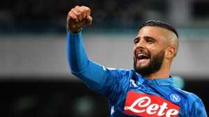 Lorenzo Insigne celebrating Napoli Empoli