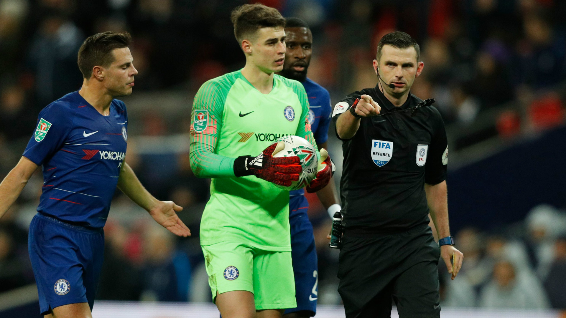 Michael Oliver Chelsea 2018-19