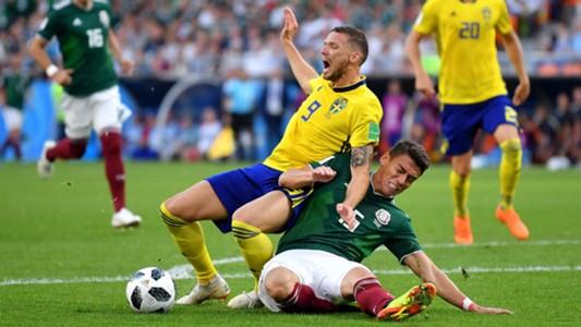 Marcus Berg Hector Moreno Mexico Suecia Sweden 27062018