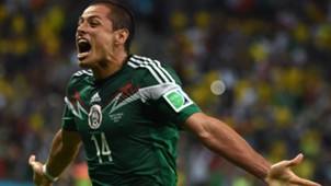 Javier Hernandez Mexico Croatia FIFA World Cup 2014