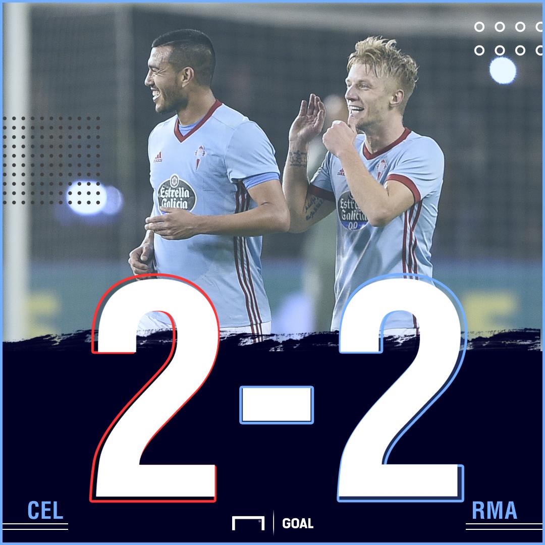 Celta Real Madrid score