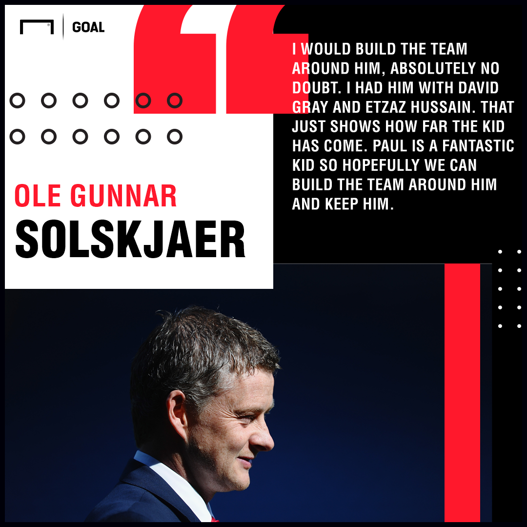Ole Gunnar Solskjaer quote on Paul Pogba