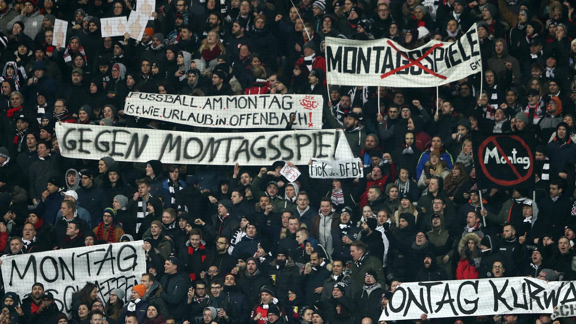 Frankfurt fans Gegen Montagsspiel protest