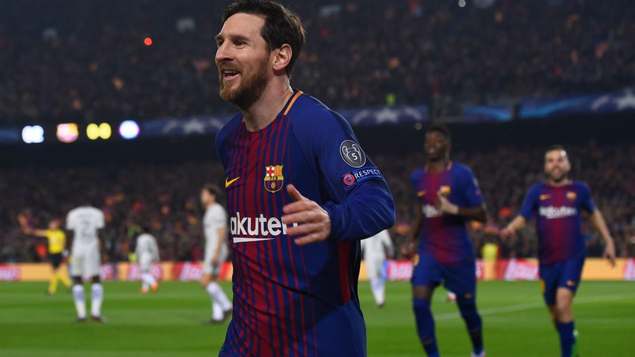 Lionel Messi Barcelona Champions League 14032018