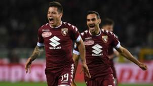 Juan Iturbe celebrating Torino Sampdoria Serie A 29042017