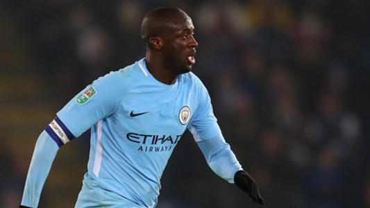 Yaya Toure Manchester City Leicester Carabao Cup 12192017