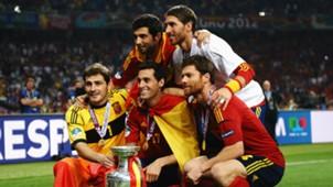 Xabi Alonso Alvaro Arbeloa Iker Casillas Sergio Ramos Raul Albiol Spain
