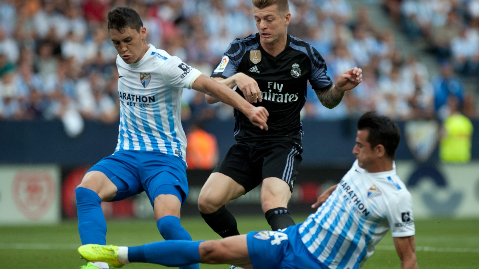 Federico Ricca Luis Hernanfez Toni Kroos Malaga Real Madrid LaLiga 21052017