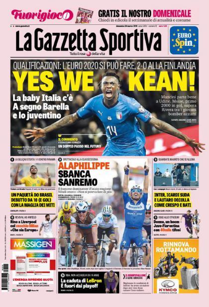 ONLY EMBED Moise Kean La Gazzetta dello Sport