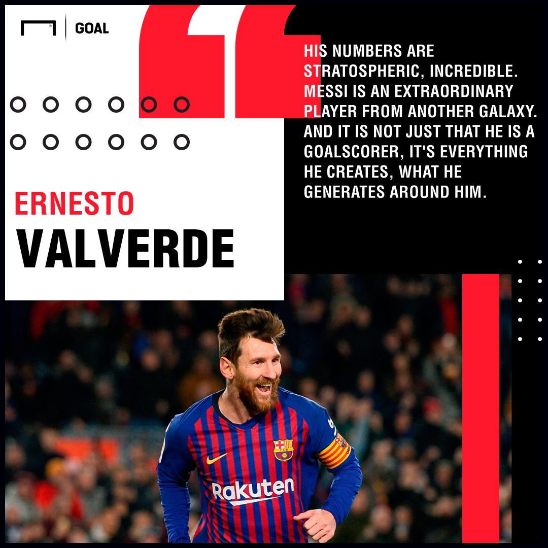 Lionel Messi Ernesto Valverde Barcelona PS