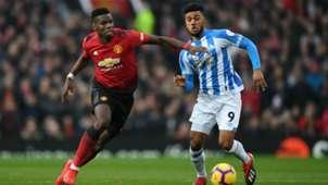 Elias Kachunga, Huddersfield Town vs. Manchester United