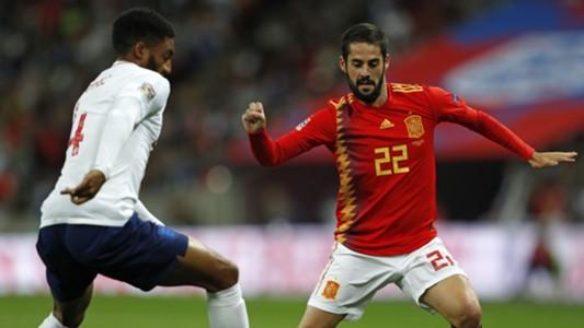 Isco Alarcon Joe Gomez Inglaterra España England Spain Nations League 08092018