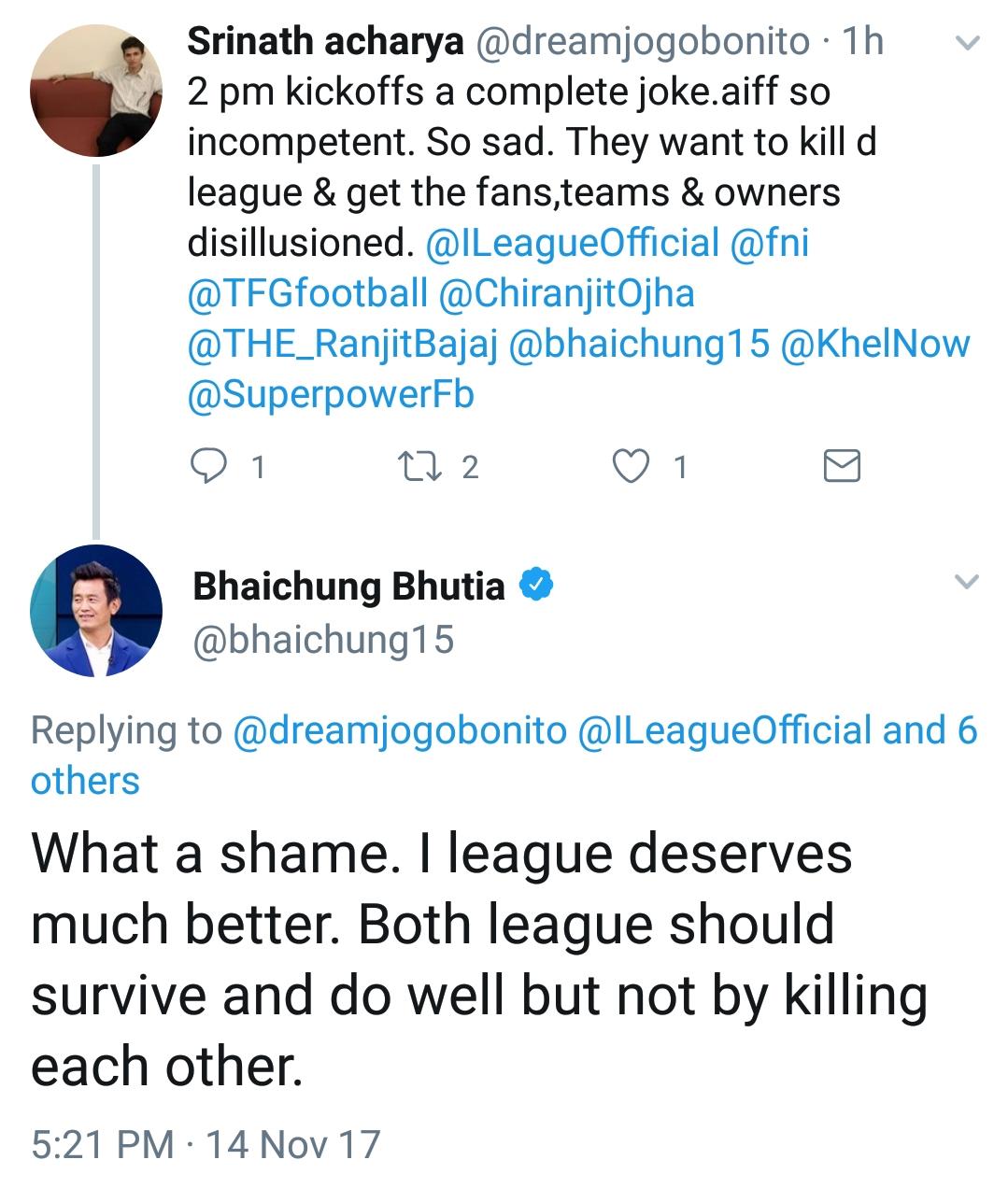 Bhaichung AIFF I-League