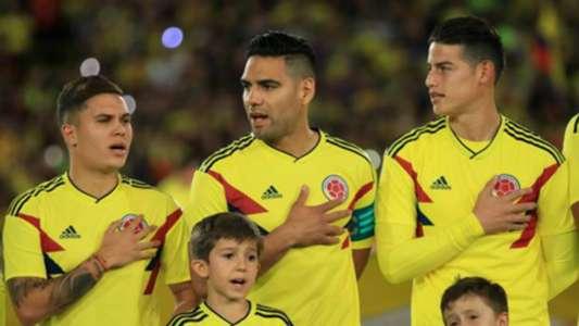 Juan Fernando Quintero Radamel Falcao James Rodriguez Colombia Himno