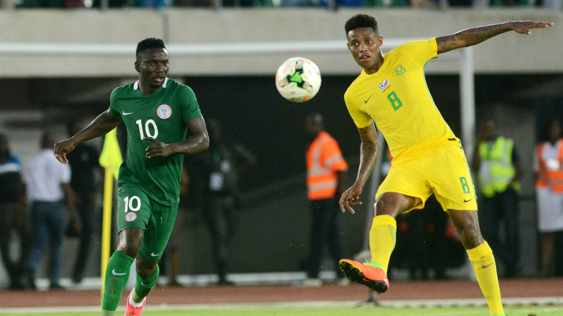 Nigeria, Oghenekaro Etebo & Bafana Bafana, Bongani Zungu