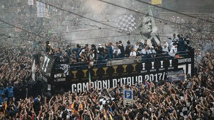 Juventus parade in Turin Serie A 05192018