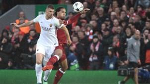 Virgil Van Dijk Edin Dzeko Liverpool Roma