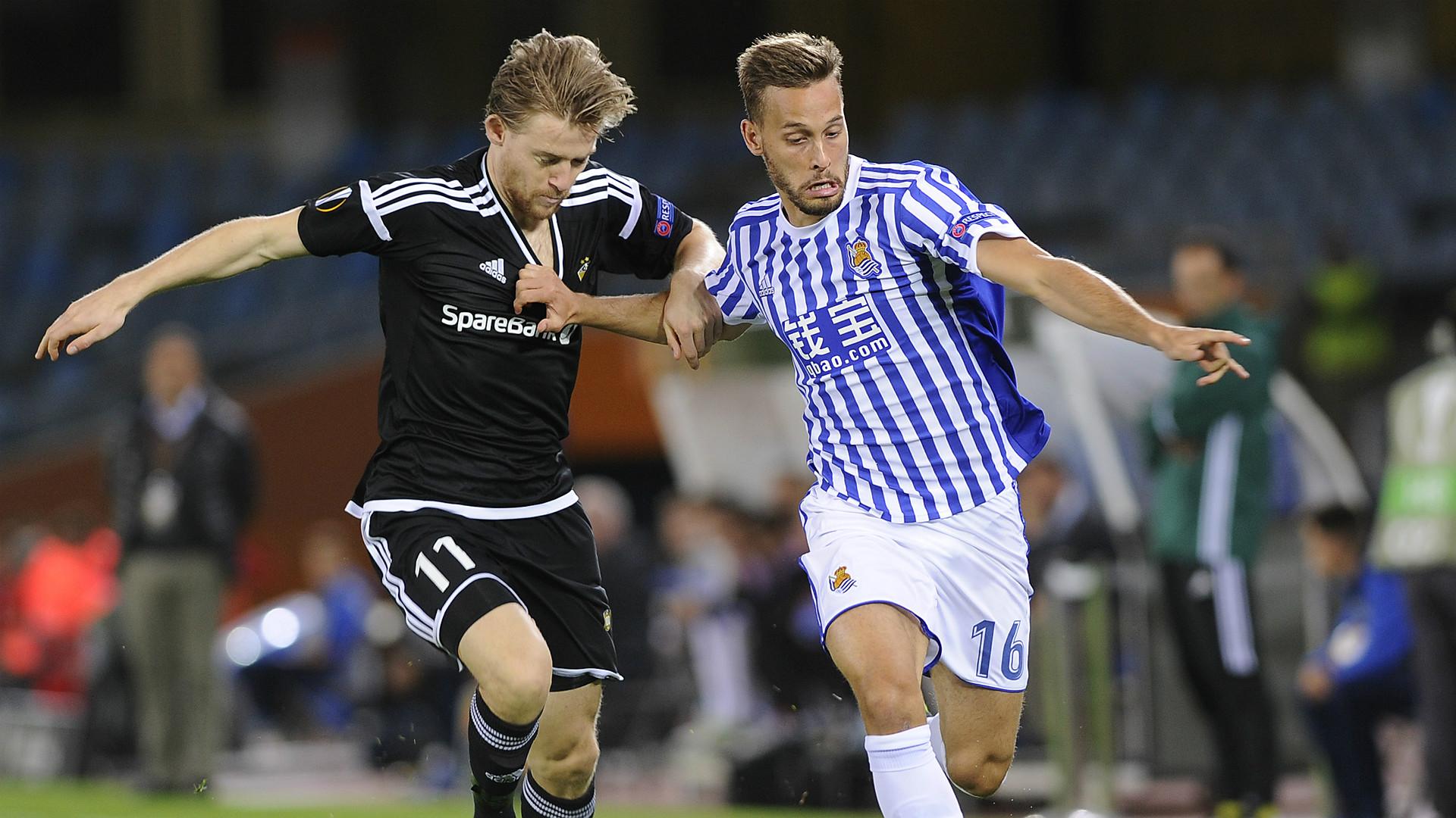Sergio Canales Erik De Lanlay Real Sociedad Rosenborg UEFA Europa League