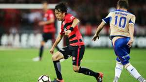 Jumpei Kusukami Western Sydney Wanderers v Newcastle Jets A-League 23102016
