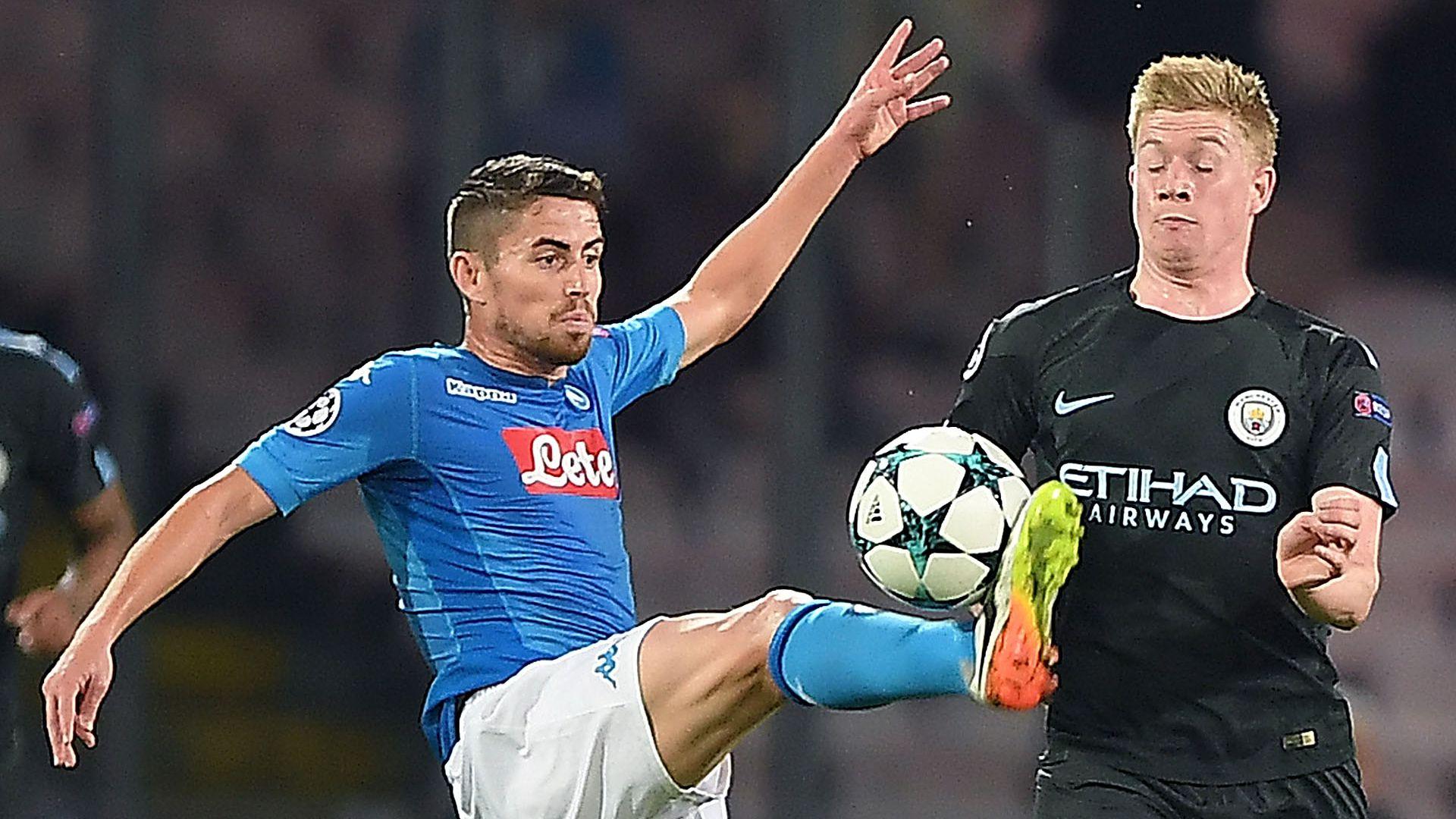 Jorginho de Bruyne Napoli Manchester City