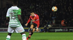 Alexis Sanchez Manchester United Yeovil Town