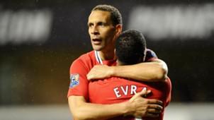 Rio Ferdinand Patrice Evra Manchester United Premier League
