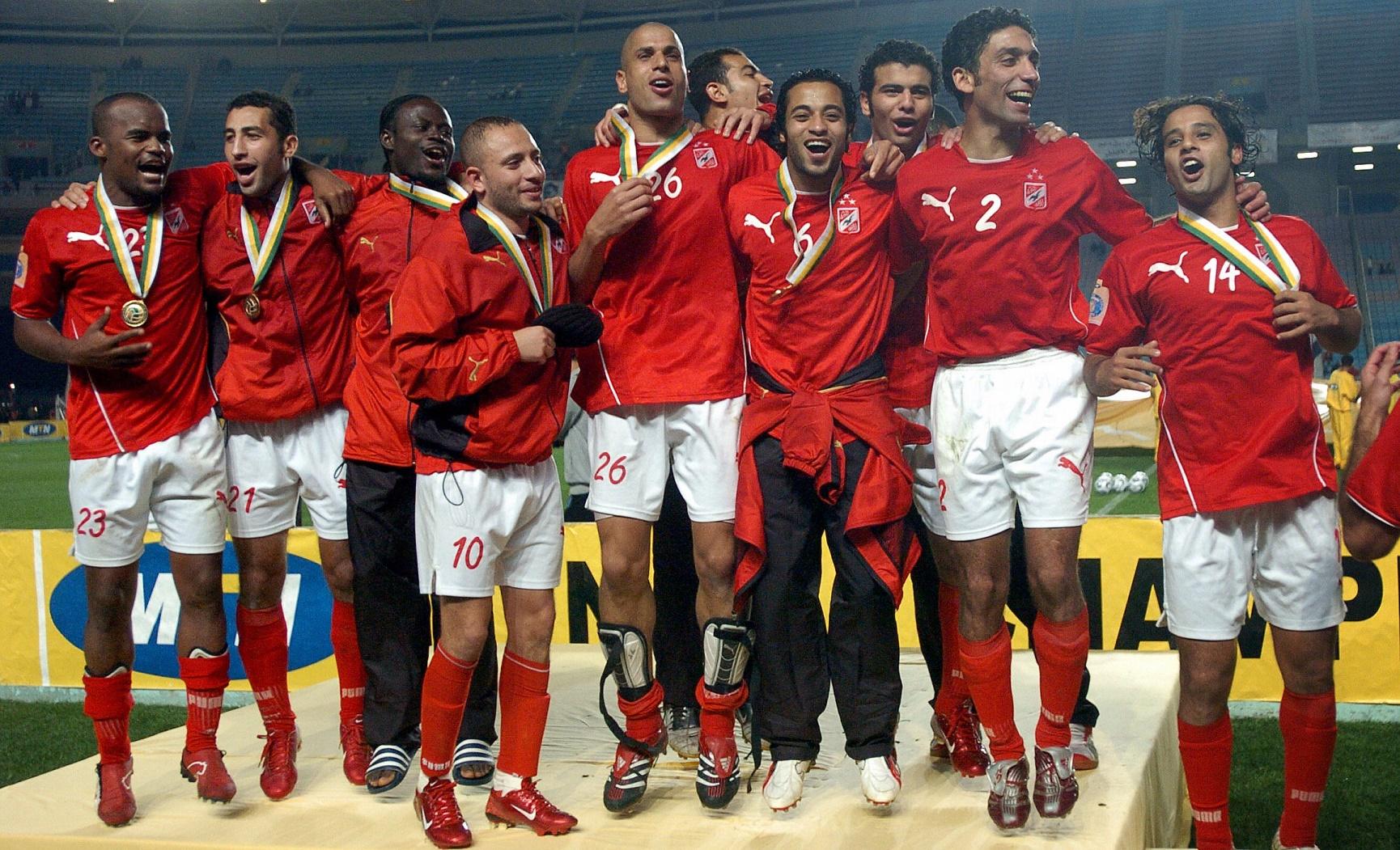 Celebration Al Ahly Sportif Sfaxien CAF Champions League final 11112006