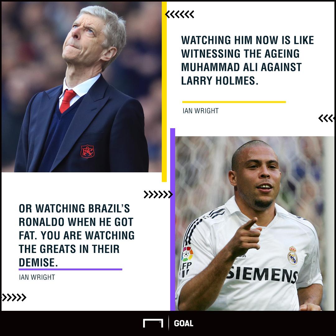 Arsene Wenger like fat Ronaldo Ian Wright