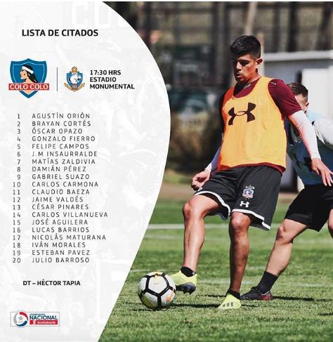 Citados Colo Colo vs Antofagasta
