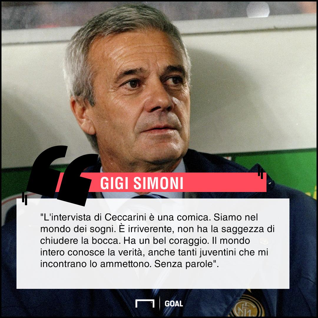 Gigi Simoni su dichiarazioni Ceccarini PS ita