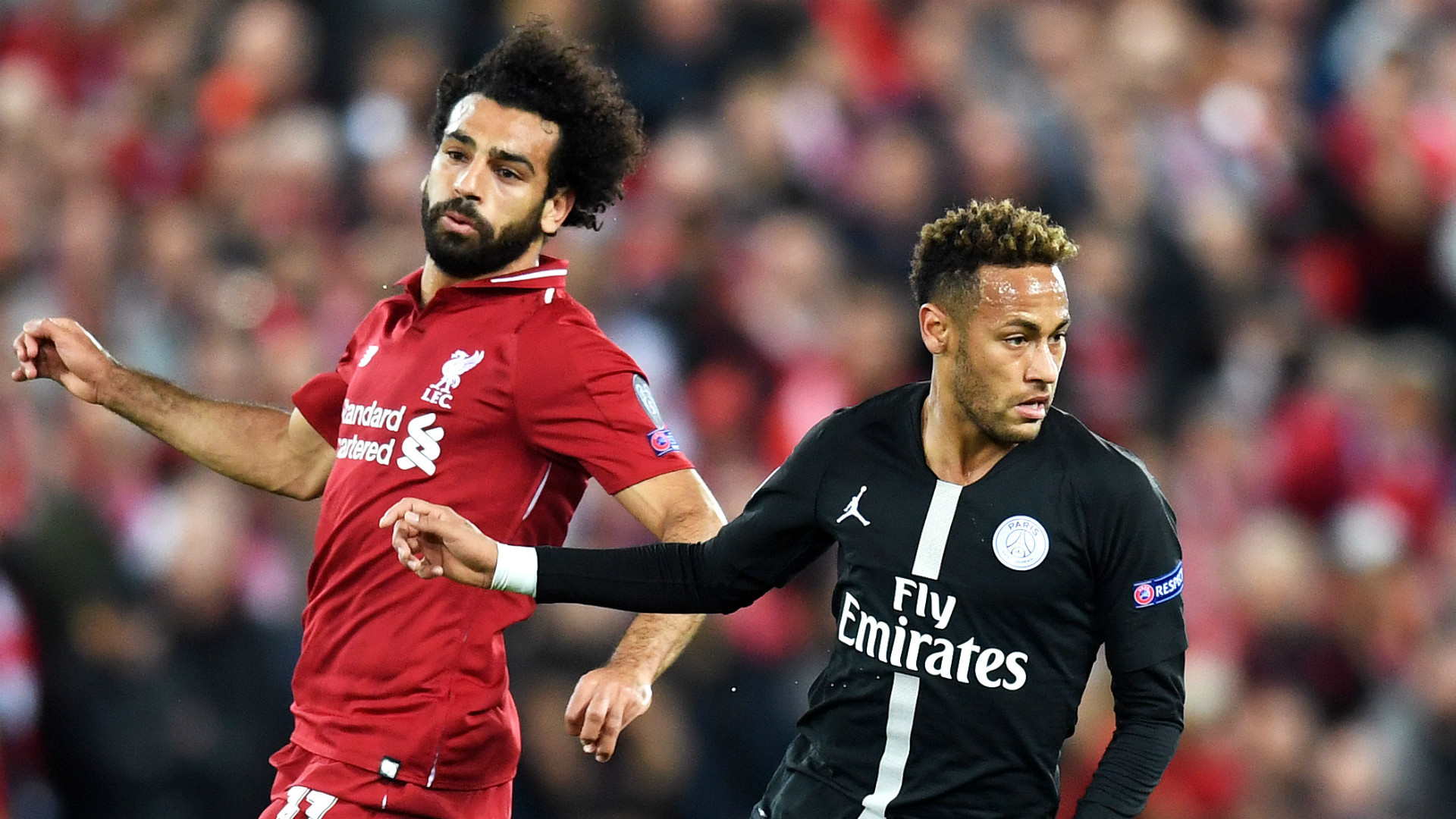 Mohamed Salah Neymar Liverpool PSG Paris Saint-Germain 2018-19