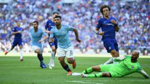 Sergio Agüero Manchester City 05082018 Community Shield against Chelsea