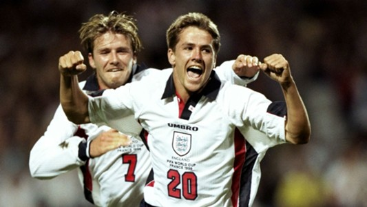 David Beckham Michael Owen England 1998 World Cup