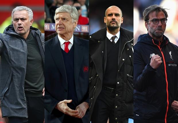 Mourinho, Wenger, Guardiola, Klopp