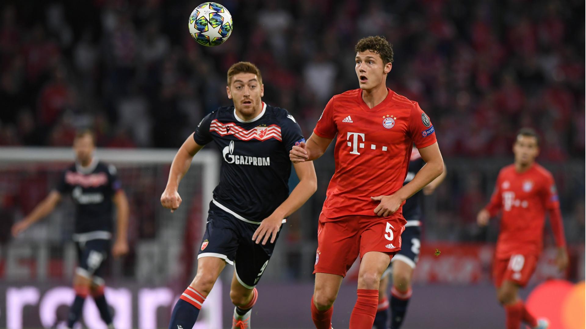 Benjamin Pavard Bayern Munchen Crvena Zvezda Champions League 18092019