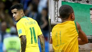 GFX Coutinho Brasil menino camiseta improvisada Copa 2018