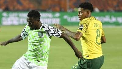 Wilfred Ndidi and Bongani Zungu - Nigeria vs. South Africa