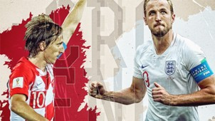 GFX Croatia England World Cup 2018
