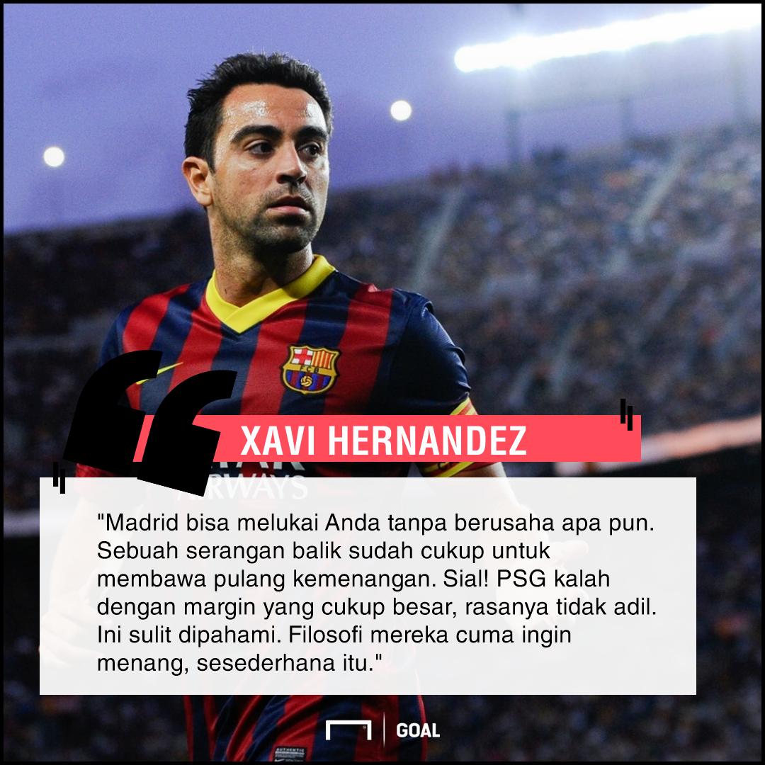 GFXID Xavi tentang Madrid-PSG