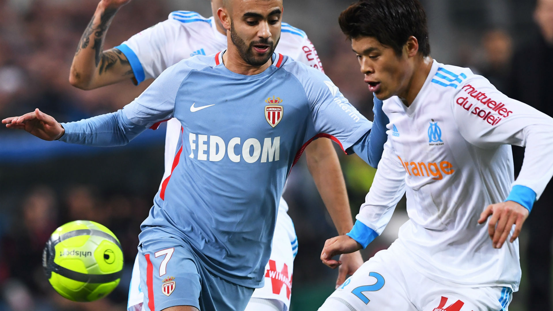 Hiroki Sakai Rachid Ghezzal Marseille Monaco Ligue 1 28112018