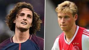 Adrien Rabiot Frenkie De Jong PSG Ajax GFX