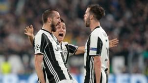 Juventus celebrating Juventus Barcelona